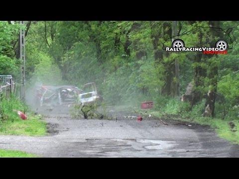 WYPADEK CRASH 4 Rajd Zamkowy 2014 - Załoga Lisowski/Piasecka