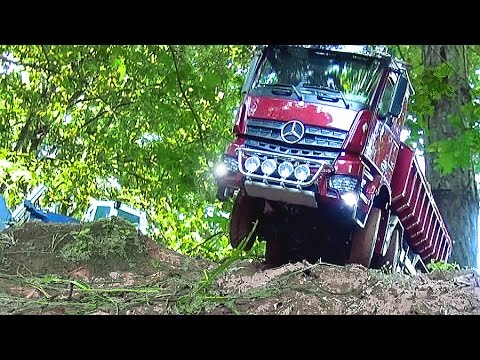 Greatest Moments of RC Truck Meeting at Construction-Site HütschenHausen! Stunning RC Truck´s!