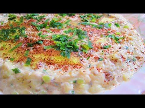 Yoğurtlu patlıcan ezmesi. Турецкая закуска из баклажан с йогуртом.