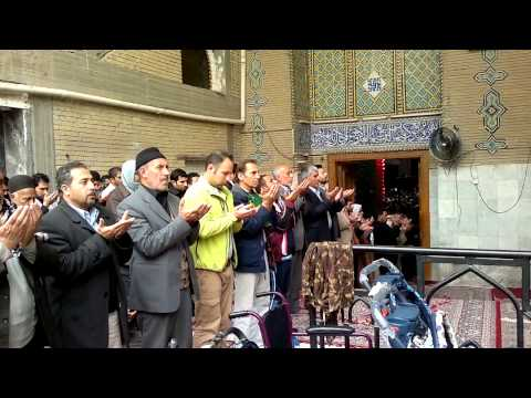 Iraq Kerbela - Midday prayers in the shrine of Imam Hussein a.s. (HD)