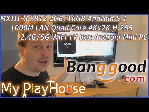 MXIII-G Android Mini PC/TV Box. It's damn good, from BANGGOOD - 357