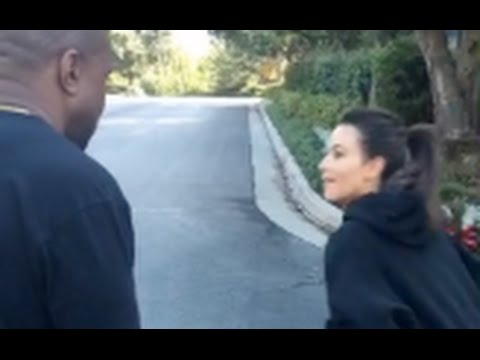 Kim Kardashian Beats Kanye West In A Foot Race