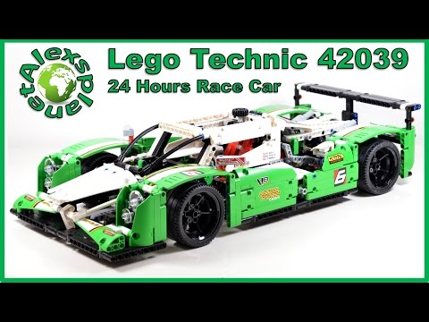 Lego Technic 2015 42039 24 Hours Race Car Unboxing. Speed Build & Review