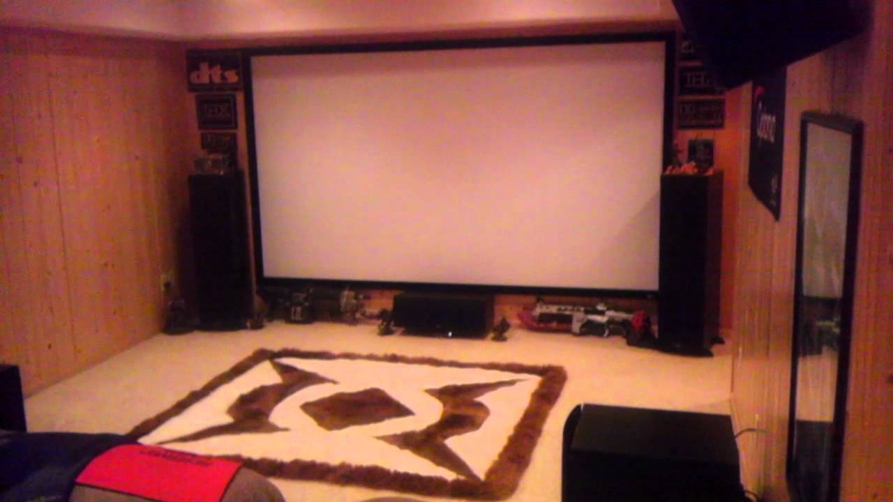 My New Home Theater Room Youtube