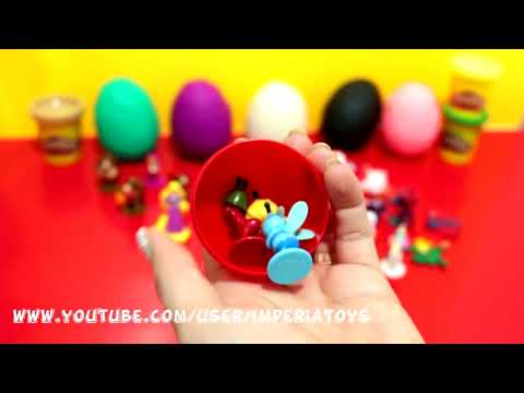 Many Play Doh Eggs Princess Kinder Surprise Disney FROZEN Hello Kitty Mickey Thomas & Friends Cars 2
