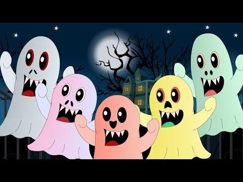 Five Little Monsters | Nursery Rhyme with Lyrics | Halloween Song | nursery rhymes