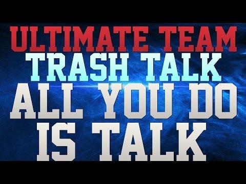 MUT 16 TRASH TALK!!! - TERRELL DAVIS TAKES OVER THE GM!!! - ALL YOU DO IS TALK!!!  - YO SCHEME SUK!!