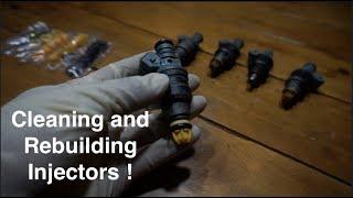 Bmw E30 Fuel Injector Vacuum Leak pt.2 Clean and Rebuild Injectors !
