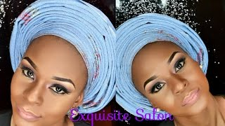 HOW To Tie Infinity Pleat Round Gele Like A Pro/ Asoke Gele for Nigeria Wedding / Beauty Hauljj