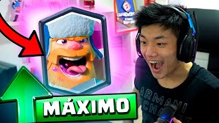 UPEI O LENHADOR PRO LEVEL MÁXIMO NO CLASH ROYALE!!