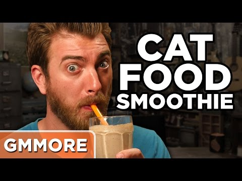 Drinking A Cat Food Smoothie