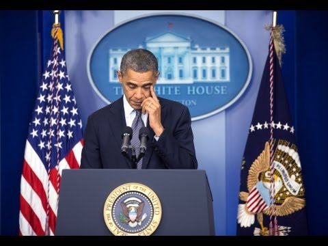 President Obama Makes a Statement on the Shooting in Newtown, Connecticut
