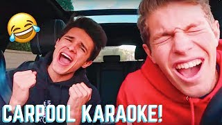 CARPOOL KARAOKE WITH MY FRIENDS!