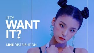 Itzy Want It Line Distribution