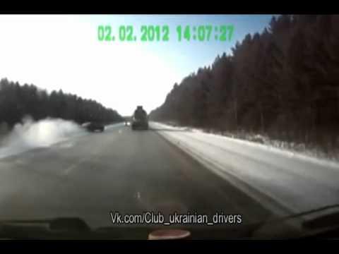 Подборка аварий. Зима 2012 год. Часть 4