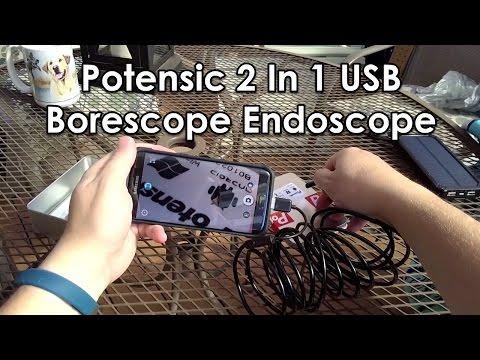 Potensic 2 In 1 Micro USB / USB Borescope Endoscope Review