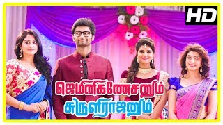 Gemini Ganeshanum Suruli Raajanum Climax | Regina, Pranitha and Aaditi attend Atharvaa's marriage