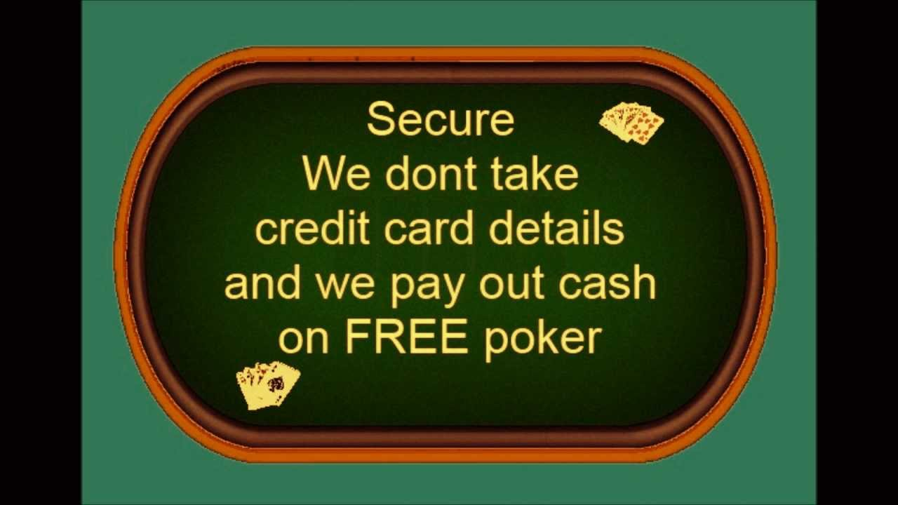 Play poker for free and earn real money