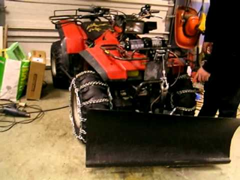 Honda trx 350  ATV homemade ultimate snowplow!