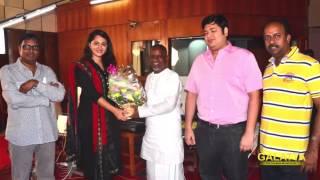 Anushka is blessed by Ilaiyaraaja