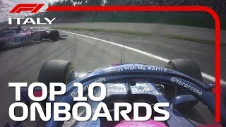 Crazy Collisions, Epic Duels And The Top 10 Onboards | 2019 Italian Grand Prix