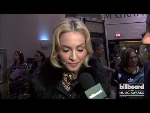 Madonna Backstage at the Billboard Music Awards 2013