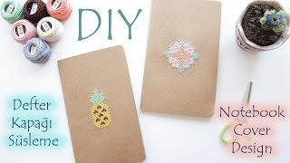 DIY | Defter Kapağı Süsleme | Notebook Cover Design