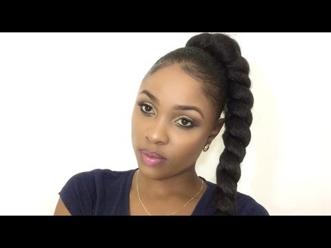 Jumbo Braid Ponytail   Kanekalon + Gorilla Snot Gel // Natural Hair