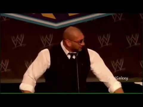 WWE DAVE BATISTA RETURN 2012 WrestleMania 27 Press Conference