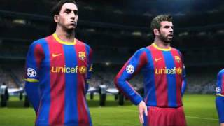 Barcelona vs Real Madrid PES 2011 greek commentary