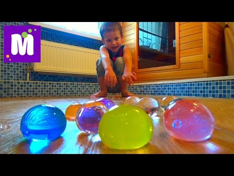 Выращиваем в воде большие шары орбиз Growing in the water big balls orbeez