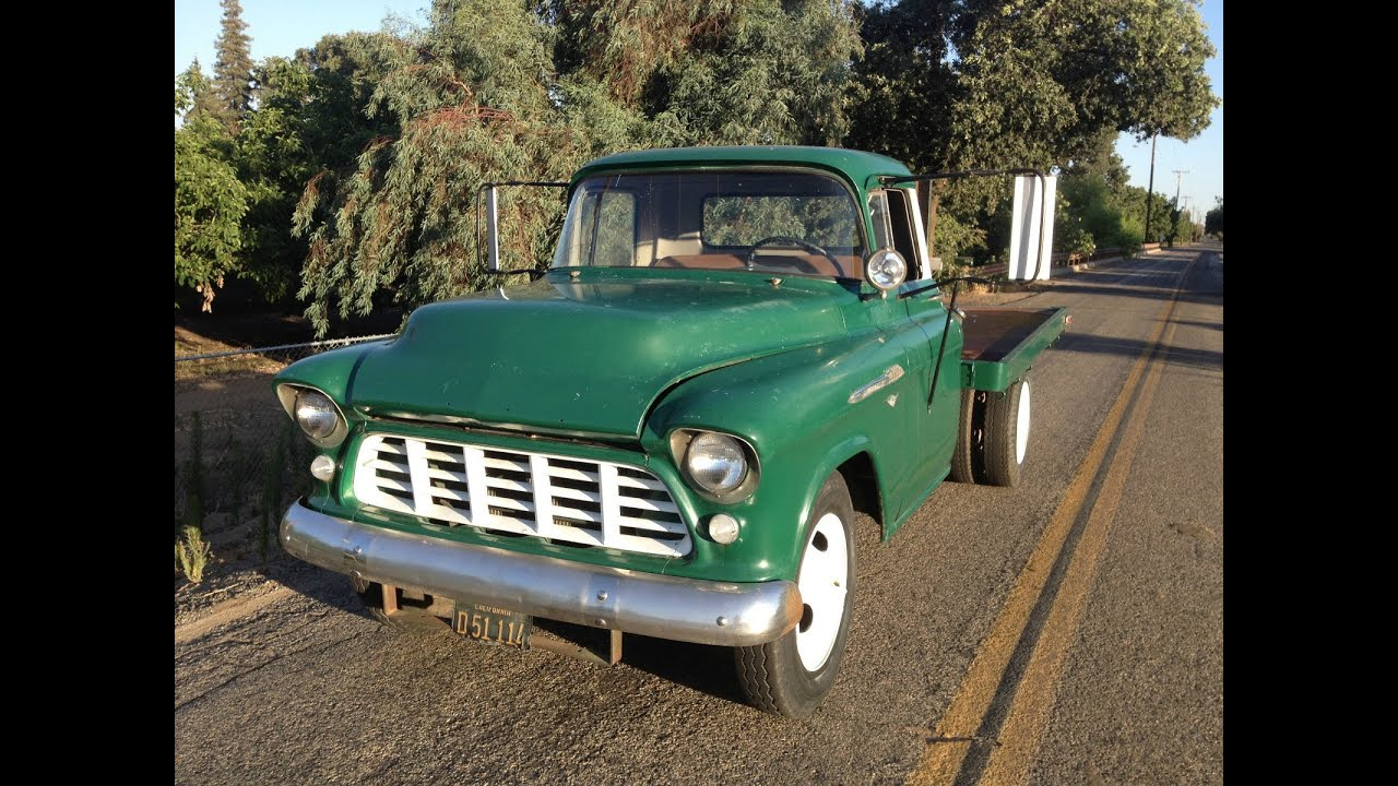 Chevy Box Van For Sale 1956 Chevy Truck 3800 Dually 1 Ton - YouTube