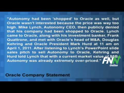 Oracle Issues Statement Regarding Autonomy Meeting (ORCL,HPQ)