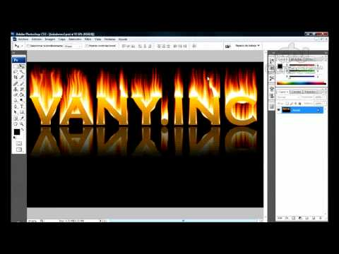Tutorial Photoshop: Efecto Texto Fuego