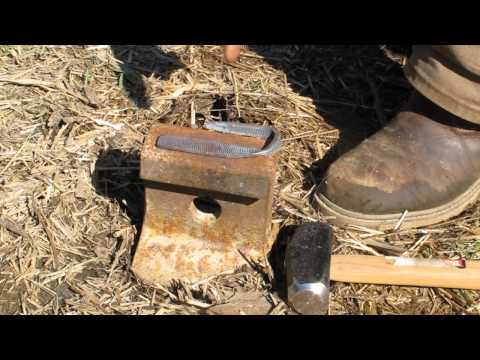 Journal of the Yurt 48 Forging a Fire Steel in the Wood Stove