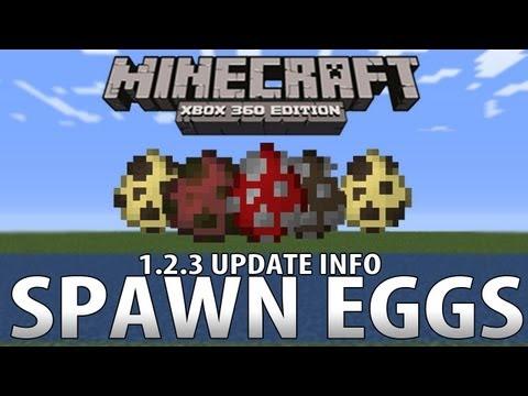 Minecraft (Xbox 360) - 1.2.3 Update SPAWN EGGS Info!