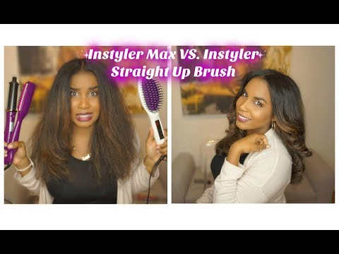 Instyler Max VS. Instyler Straight Up Brush (Review & Demo)