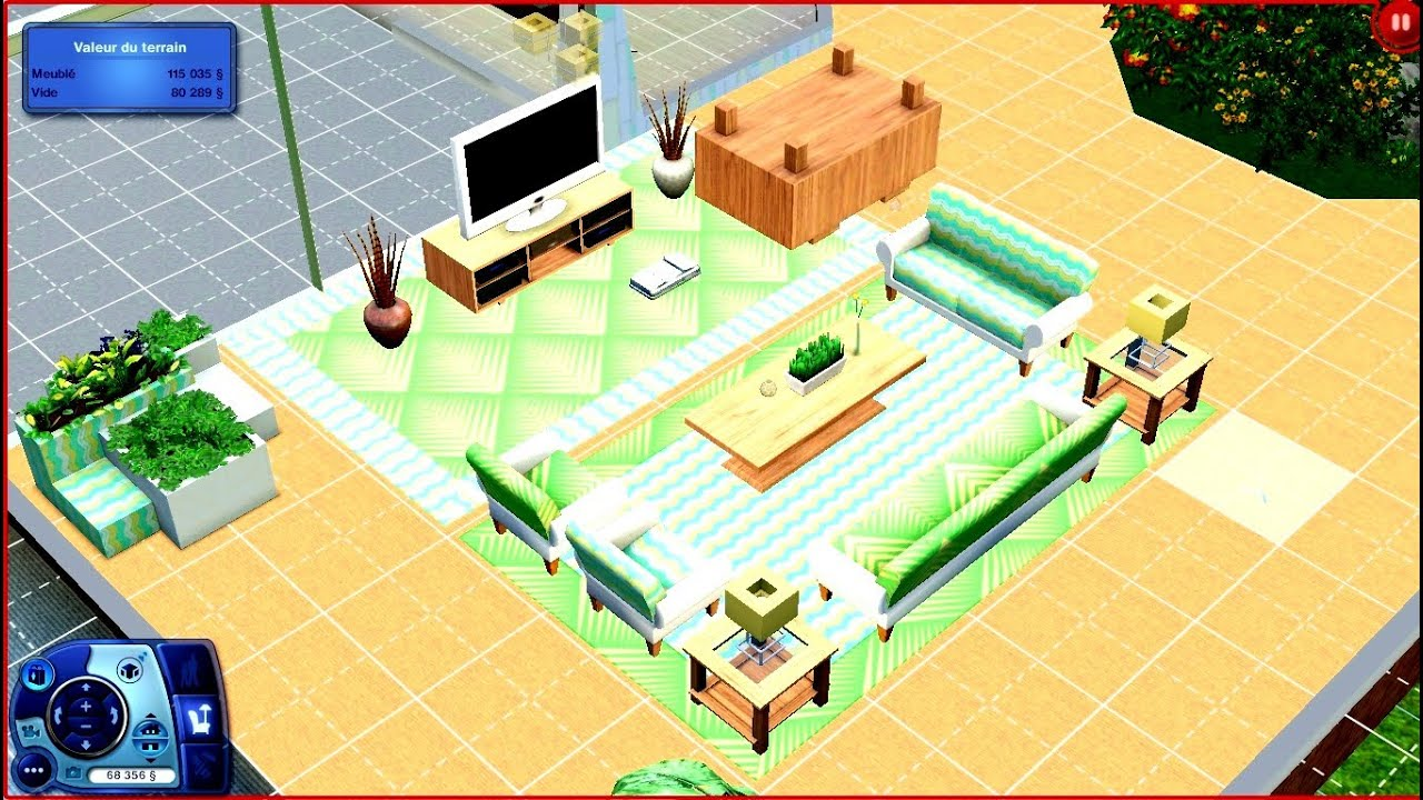 les sims 3 construction d 39 un salon r tro tropical brevet l 39 avoir facilement youtube. Black Bedroom Furniture Sets. Home Design Ideas