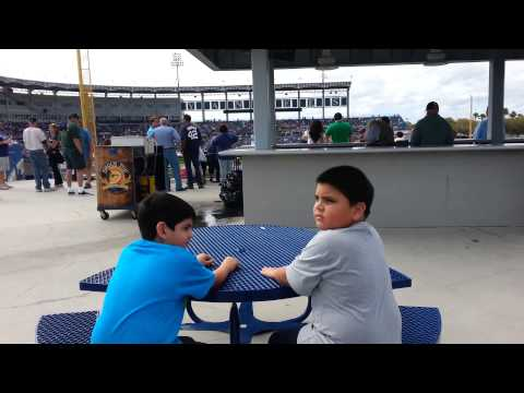 Boys at Steinbrenner Field 2014