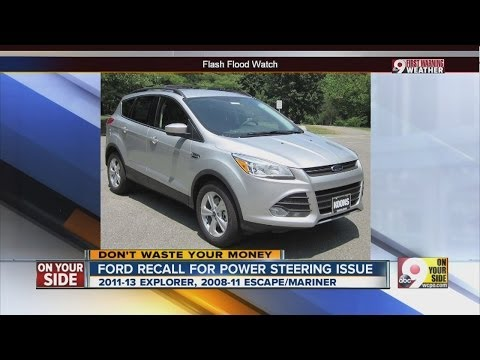 Ford recall for power steering issue