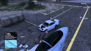 GTA 5 ONLINE GETTING IN THE MILITARY BASE AND STEALING A JET!