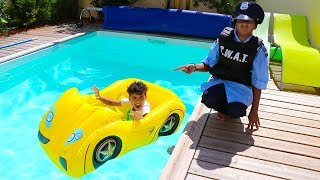Kids Pretend Play With Police Costume,and johny johny yes papa,videos for kids