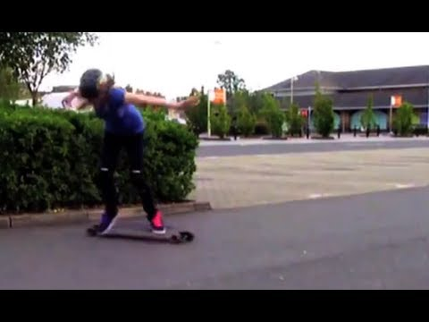 LongboardUK Trick Tips: Backside 180 Standup Slide/Powerslide