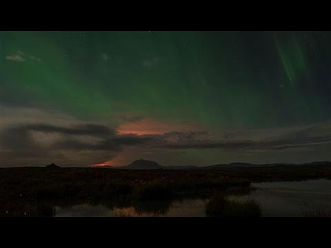 Northern Lights Appear Over Iceland's Bardarbunga
