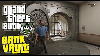 "GTA V Online - Secret Bank Vault Tutorial! Future DLC Mission! ""How To Get In The Bank"" Gameplay"