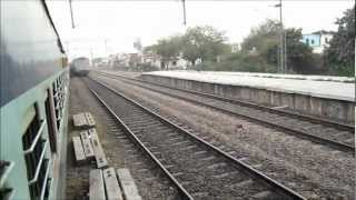 Rajdhani Blast_ Very High Speed Rajdhani Express Overtakes on Indian Railways