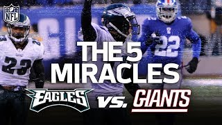 The Eagles 5 Miracle Wins vs. the Giants | NFL Highlights