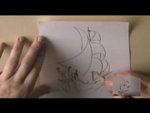 Видео как нарисовать парусник карандашом поэтапно