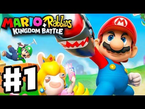 Mario + Rabbids Kingdom Battle - Gameplay Walkthrough Part 1 - World 1 Ancient Gardens! 2 Hours!