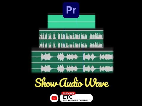 SHOW AUDIO WAVEFORM   ADOBE PREMIERE PRO   #shorts